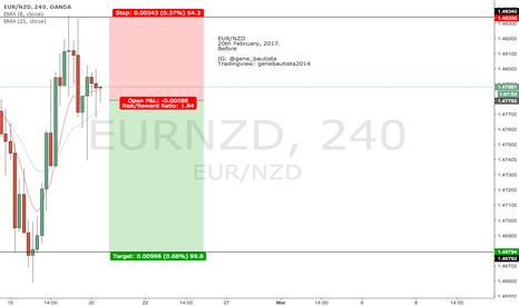 EURNZD: 2. EURNZD - SHORT (20th February 2017).