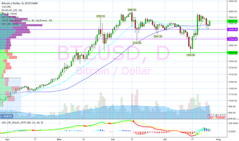 BTCUSD: Bull Flag after support test.