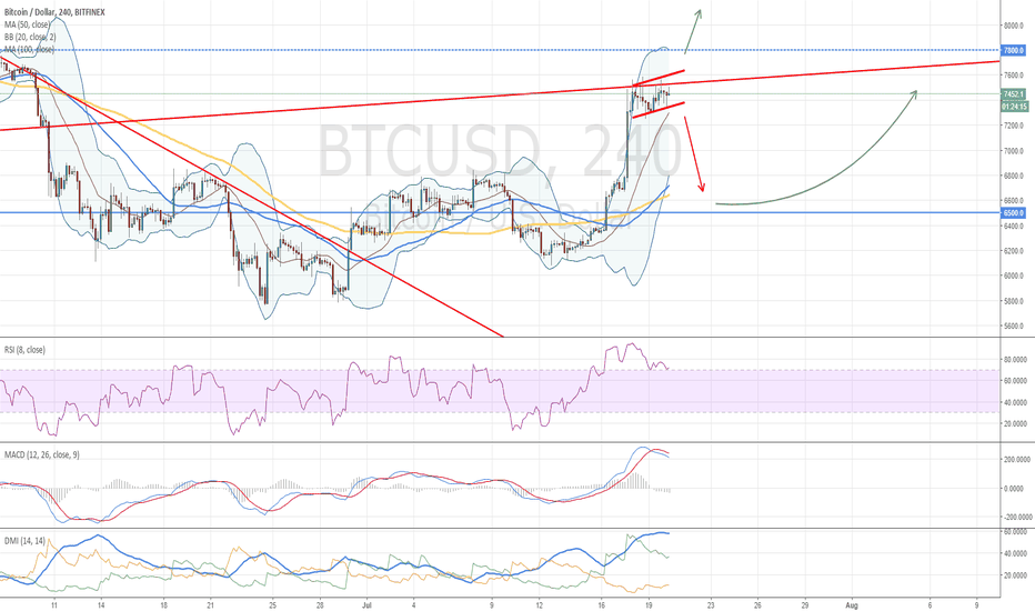 BTCUSD: Bitcoin Possible Market Movements