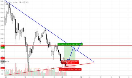 BTCUSD: BTC/USD 일봉 차트 예상 흐름도