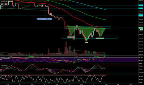 BTCUSD: BTC - inverse Head and shoulders, they can push it to 7550