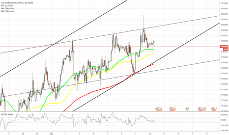 USDMXN: USD/MXN 1H Chart: Channel Up