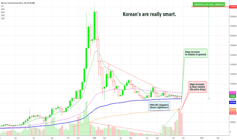 BTCKRW: Bitcoin Korean Bull: Two Scenarios + Additional Charts
