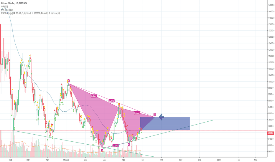 BTCUSD: Possibile Area di inversione tendenza bullish