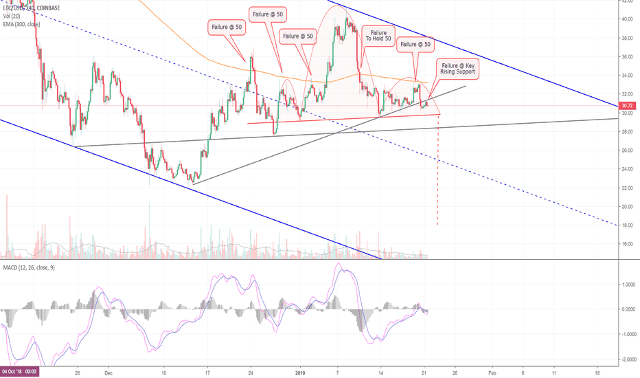 LTCUSD: The Bears Watch, As Litecoin Continues To Show Weakness! (LTC)