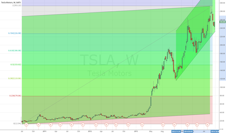 TSLA: Support for tesla and pending positive announcement