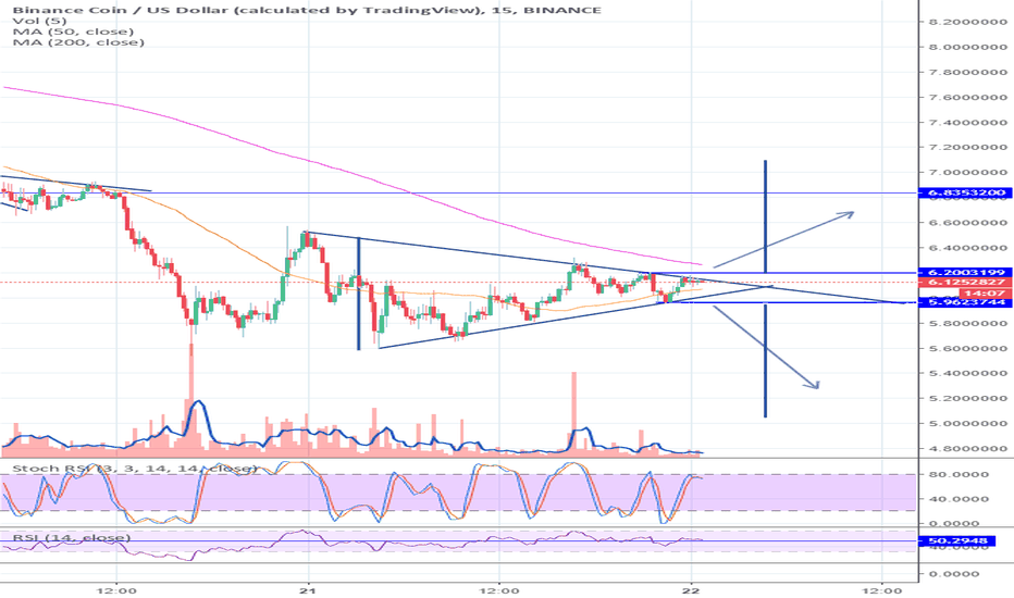 BNBUSD: Triangle BNB in short term