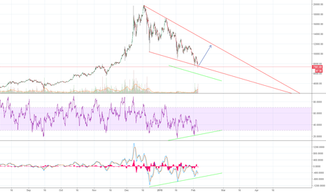 BTCUSD: Bitcoin Falling Wedge with Positive Divergence