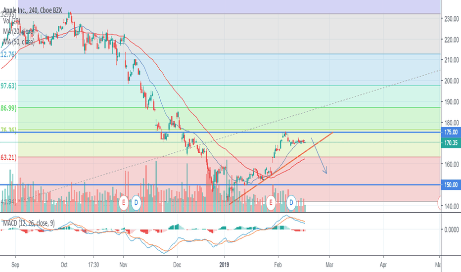 AAPL: Wait to break out the residence