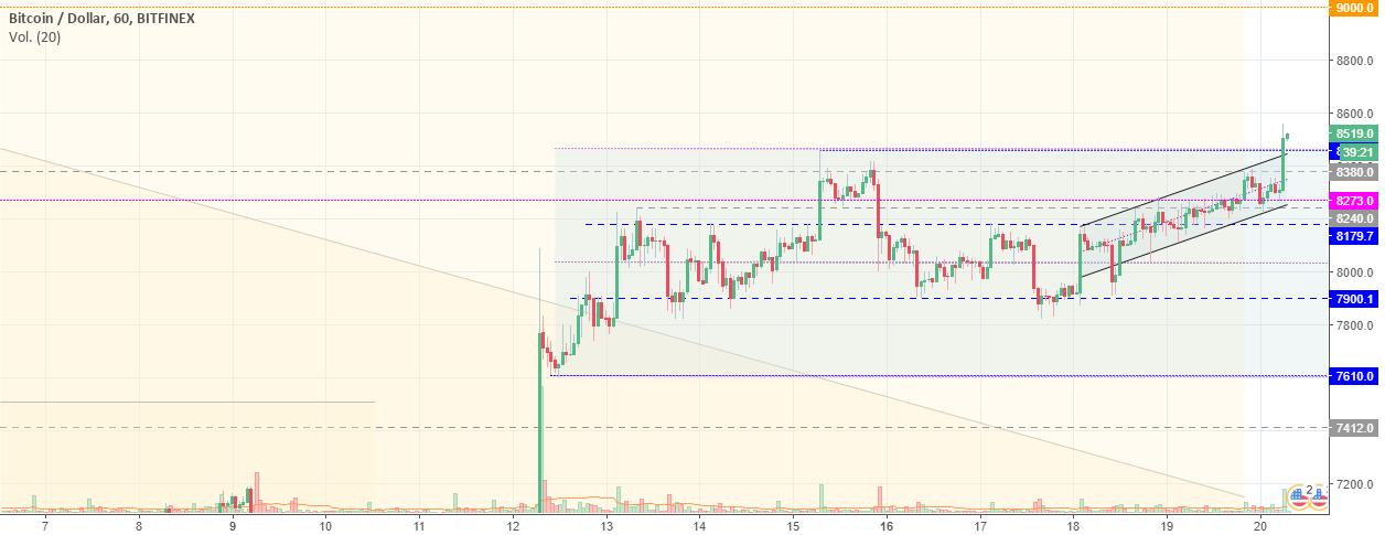 Bitcoin (BTCUSD) - Análisis de Price Action (1H)