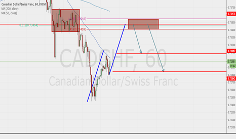 CADCHF: ABCD harmonic move and 61.8 fib retracement and extension