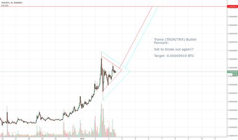 TRXBTC: Tronix (TRON/TRX) Bullish Pennant!? (~70% Gains)