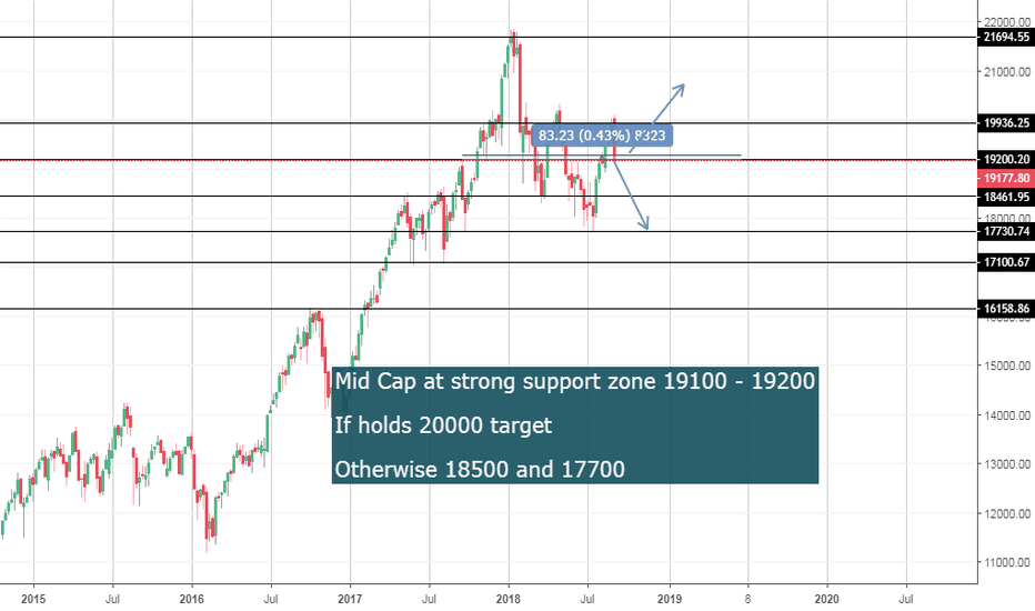 CNXMIDCAP: Mid Cap Index at crucial zones 19100 - 19200