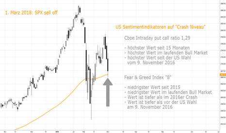 "SPX: US Sentiment-Indikatoren auf ""Crash Niveau"""