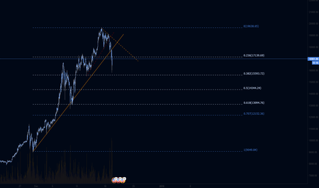BTCUSD: BTC Hourly Detail of pullback, bigger picture...