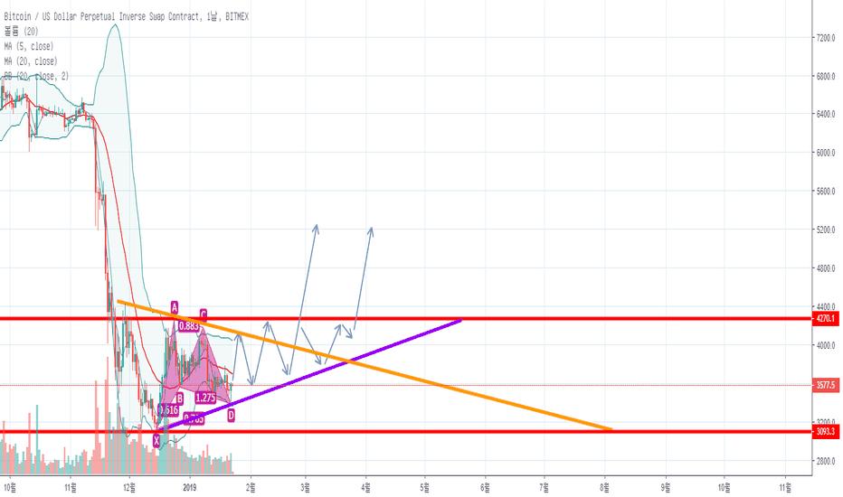 XBTUSD: XBTUSD, Ascending Triangle + Bullish Gartley, LONG