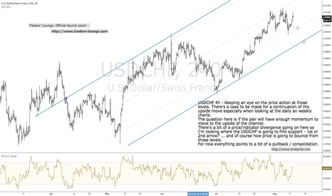 USDCHF: USDCHF 4h, due for a pullback?