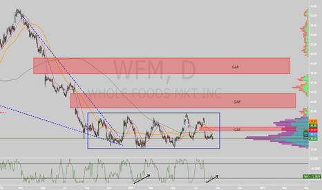 WFM: $WFM falling wedge to box ready for breakout