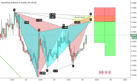 AUDUSD: Potential butterfly formation