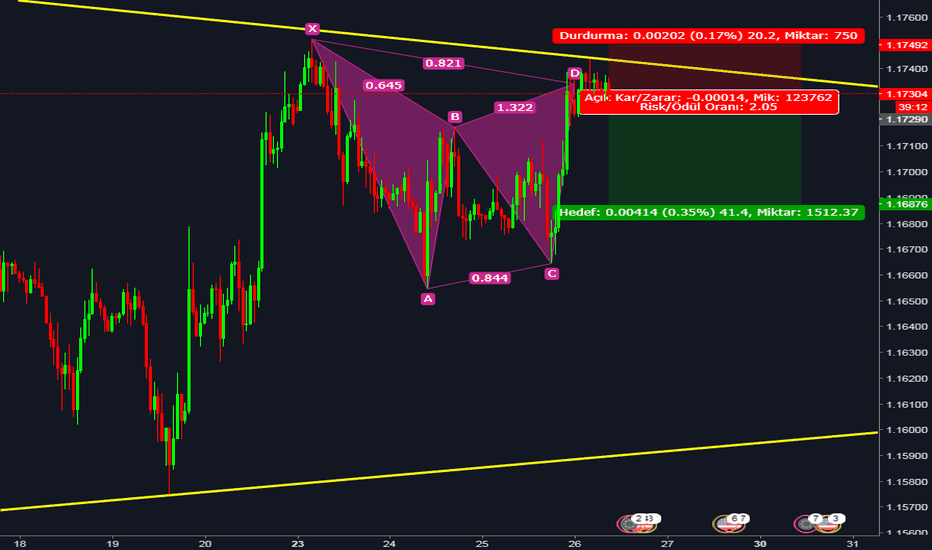 EURUSD: EURUSD | GARTLEY & TREND