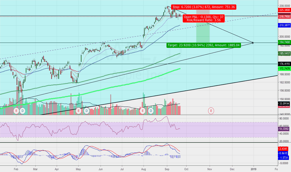 AAPL: AAPL Possible Double Top Pattern