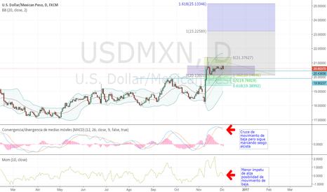 USDMXN: USDMXN esperando unwinding para entrar en largo en 20.13/19.90