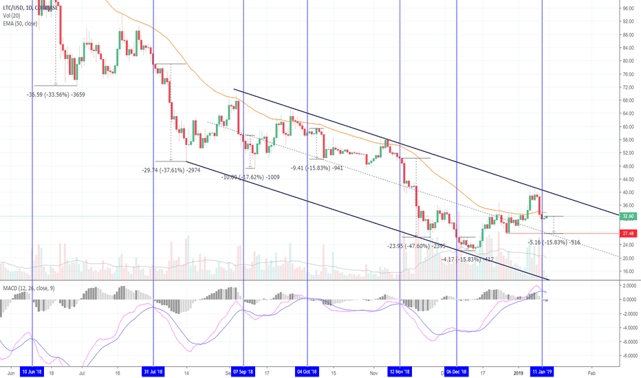 LTCUSD: History Says We're Likely To Fall From Here! Litecoin! (LTC)