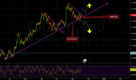 AUDNZD: An Up Trend Line and a Bullish Flag...