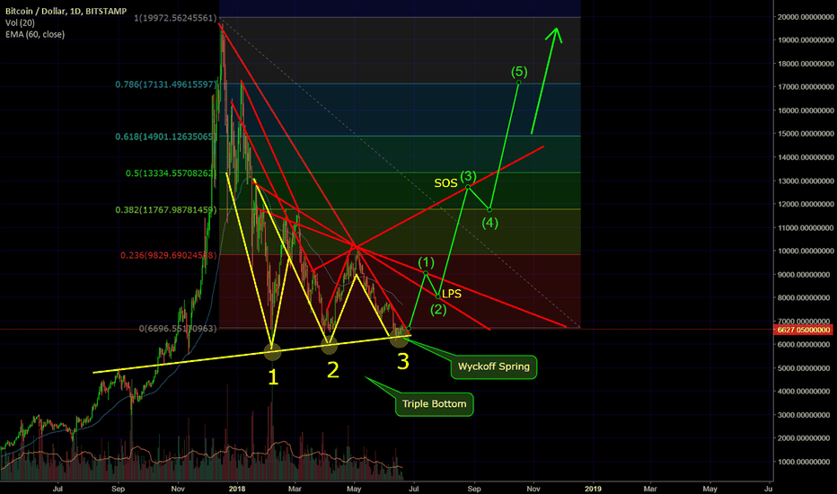 BTCUSD: Bitcoin EPIC Triple Bottom, Triangle and Wyckoff Bull Signal