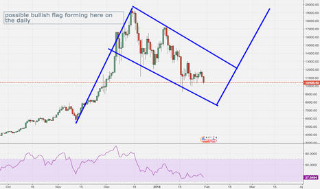 BTCUSD: bullish flag