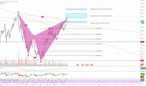 BTCUSD: Bearish Shark Pattern 일 경우.