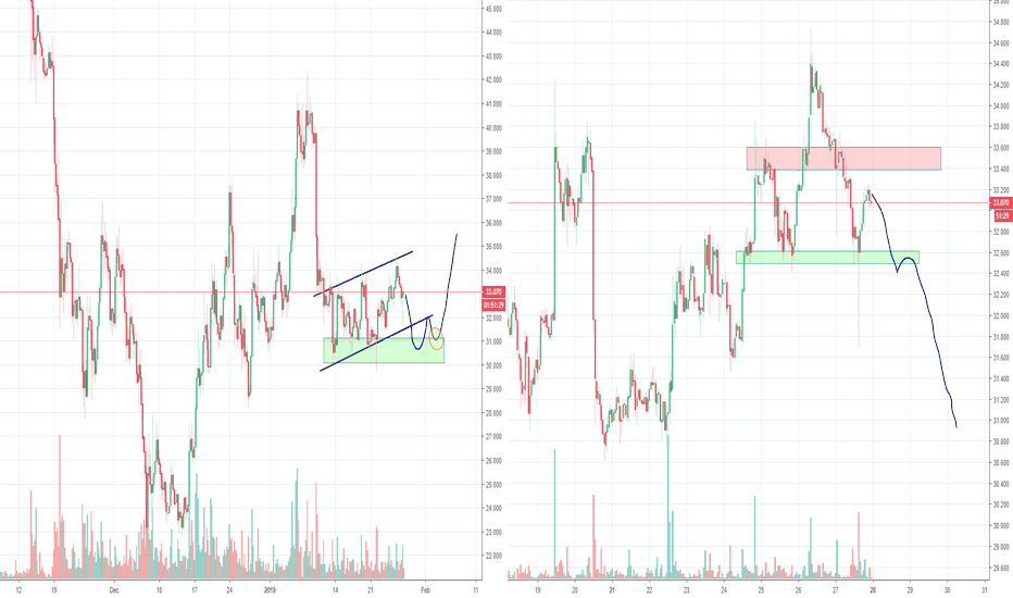 LTCUSD: Litecoin LTC Bear flag and H&S