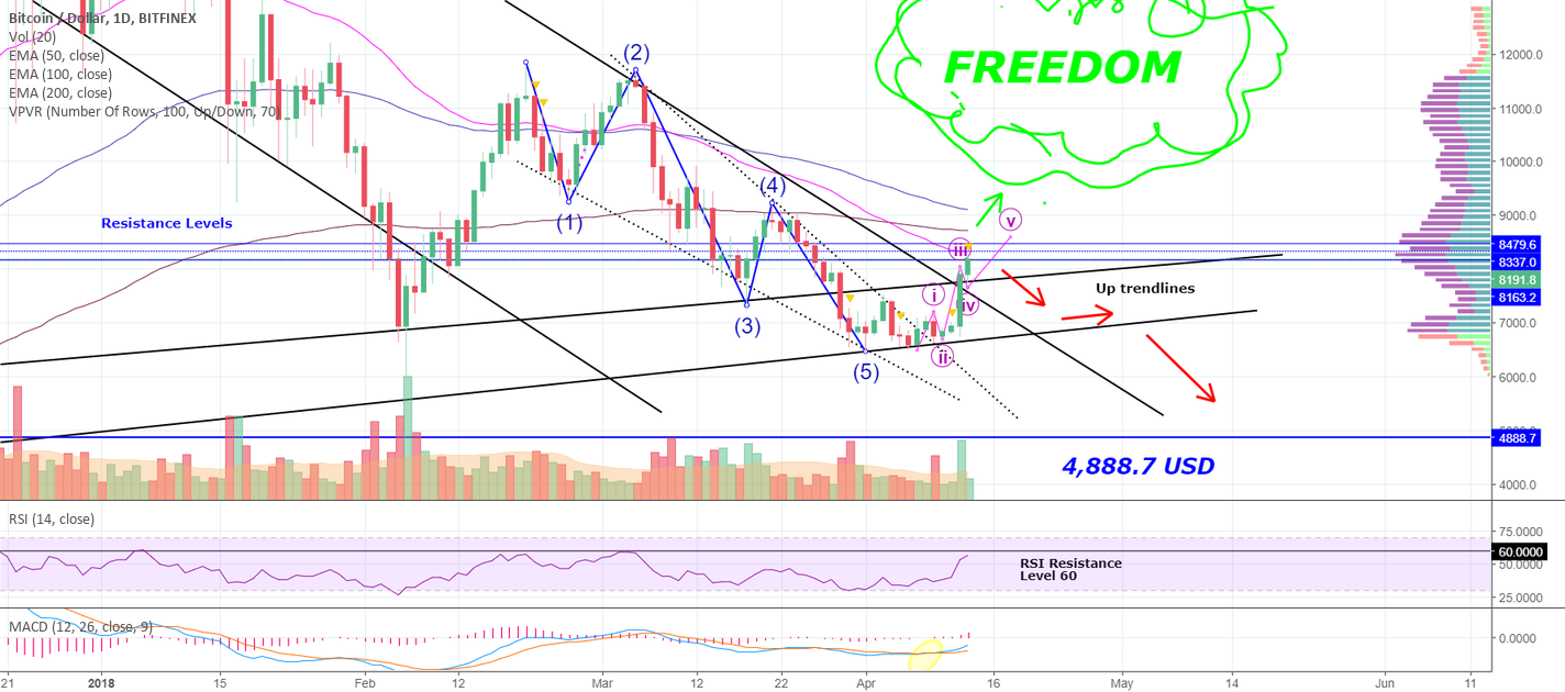Now What BITCOIN? Ultimate Freedom or 4.888,7 USD?? Let's See...