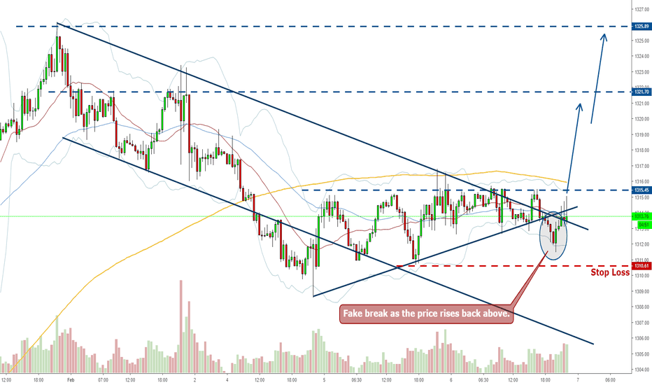 XAUUSD: Gold Long - Fake Break and Pullback