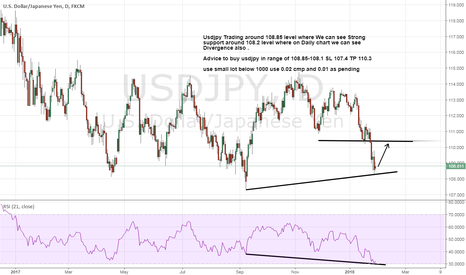 USDJPY: Usdjpy seems done its double bottom and Divergence long it