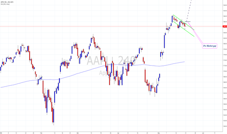 AAPL: AAPL Flag on daily and 4H chart