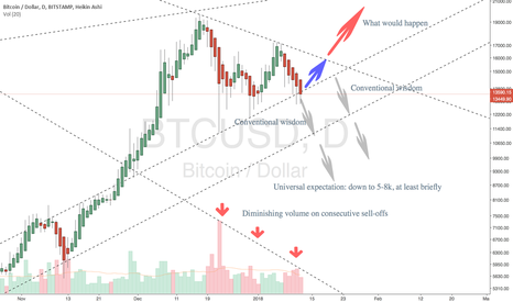 BTCUSD: Seller exhaustion will push BTC prices up