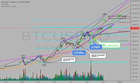 BTCUSD: By george I think i've got it! My count (adjusted) Bitcoin