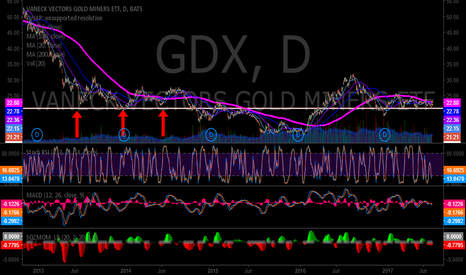 GDX: Bull trap or launch pad. In 2014 similar set-up was a bull trap.