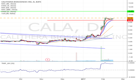 CALA: CALA - Flag formation Long from $9.13 to $10.83
