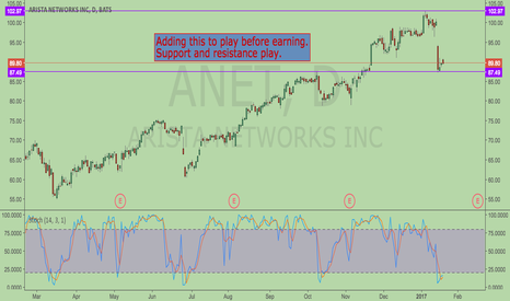 ANET: Support and resistance play