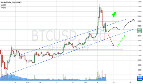 BTCUSD: Possible scenarios over the next day or two