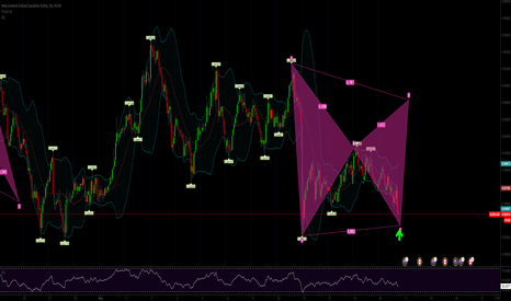 NZDCAD: Bearish Gartley 1hr chart NZDCAD