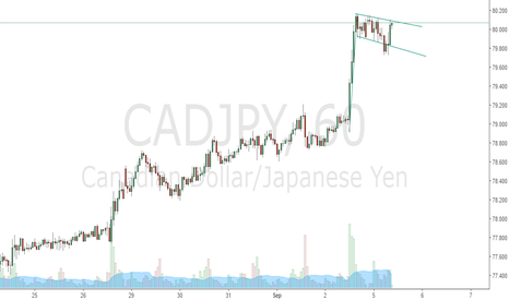 CADJPY: flag pattern