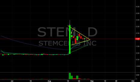 STEM: $STEM forming a flag, watching for breakout, ema support under.