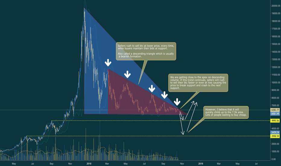 BTCUSD: Bitcoin (BTC) to 5K and then to 7.5k again by december 2018