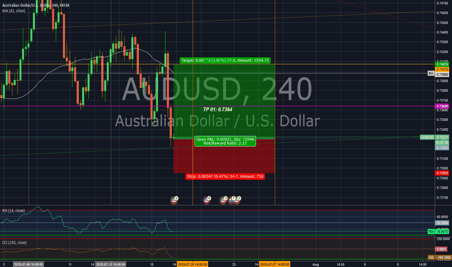 AUDUSD: Long position in AUD/USD