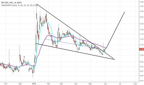 MYSZ: Descending wedge breakout on MYSZ