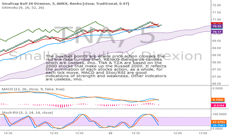 TNA: Use of RENKO charts to scalp TNA & TZA