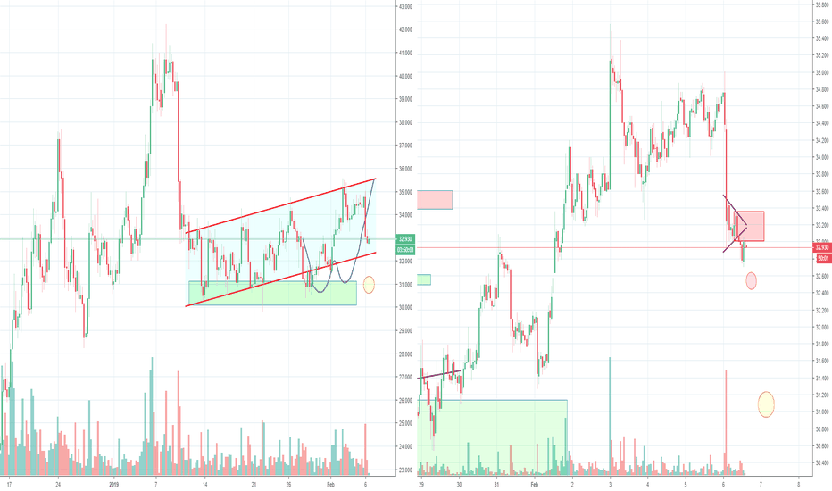 LTCUSD: Litecoin LTC Bear flag and H&S, Part 4